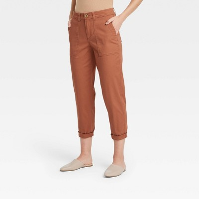 Women's High-Rise Utility Ankle Pants - A New Day™
