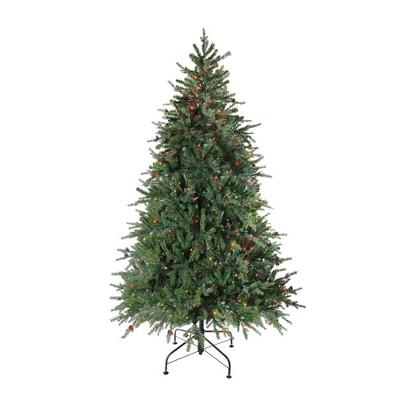 Northlight 7.5' Pre-Lit Full Artificial Christmas Tree Hunter Fir - Multi-Color Lights