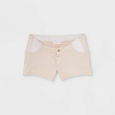 Side Panel Midi Maternity Jean Shorts - Isabel Maternity by Ingrid & Isabel™