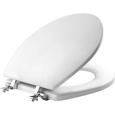 Round Molded Wood Toilet Seat White - Mayfair by Bemis
