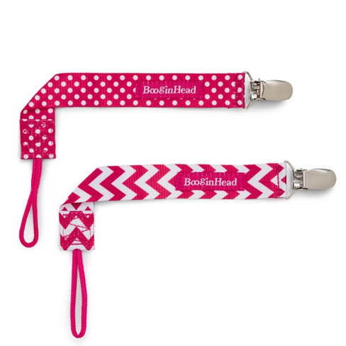2-pack PaciGrip Pacifier Clip Chevron- Pink - image 1 of 6