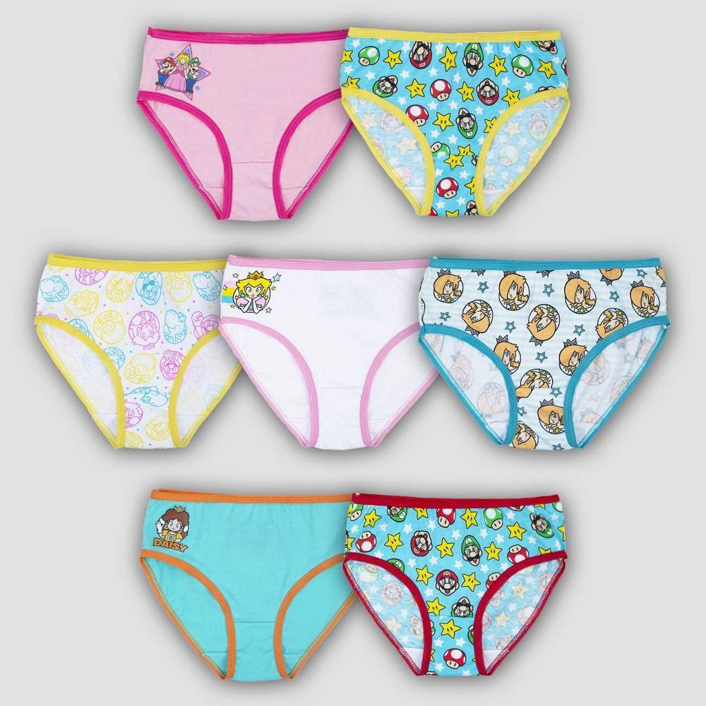 Girls 39 Mario 7pk Underwear 6