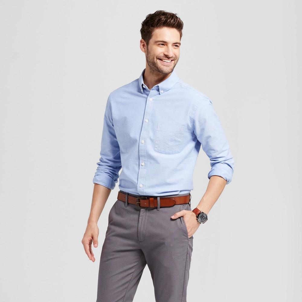 Men's Standard Fit Whittier Oxford Button-Down Shirt - Goodfellow & Co Light Blue Xxl