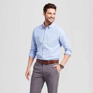 Men's Standard Fit Whittier Oxford Button-Down Shirt - Goodfellow & Co™ Light Blue 2XL