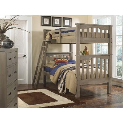 Kids' Twin Over Twin Highlands Harper Bunk Bed Driftwood - Hillsdale Furniture