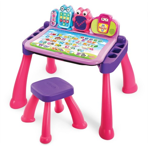 VTech Touch & Learn Activity Desk Deluxe - Pink - image 1 of 4