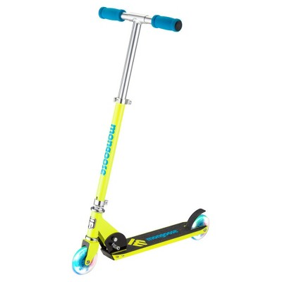 Mongoose Force 1.0 Folding Scooter with Lights - Yellow/Blue