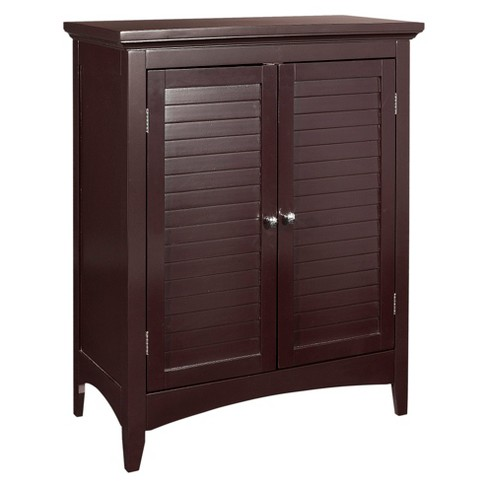 Elegant Home Fashion Slone 2 Door Shuttered Espresso Floor Cabinet - image 1 of 10