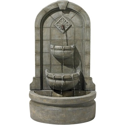 "John Timberland English Outdoor Wall Water Fountain 41 1/2"" High Three Tier for Yard Garden Patio Deck Home Hallway"