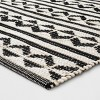 "2'6""X4' Geometric Woven Accent Rugs Black - Project 62™ - image 2 of 3"