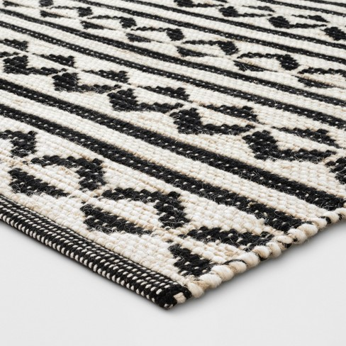 Black Geometric Woven Accent Rugs 26x430x48 Project 62 Target