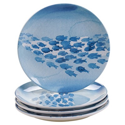 Certified International Sea Life Set of 4 Dinner Plate 11