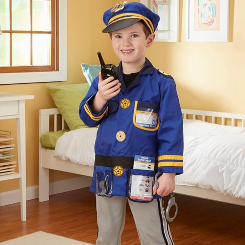 Melissa & Doug Police Officer Role Play Costume Dress-Up Set (8pc) - image 1 of 4