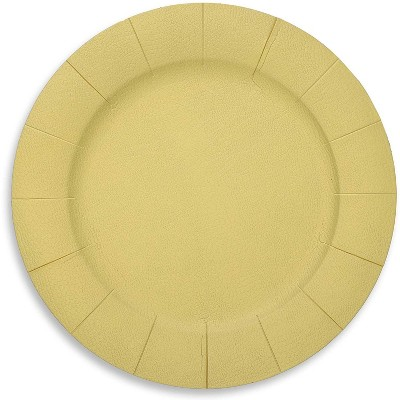 Blue Panda 24 Pack Paper Charger Plates for Birthday, Engagement, Wedding Party (Gold, 13 inches)