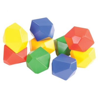 Edushape Gem Blocks Jumbo Manipulative Set  - 54 Pieces