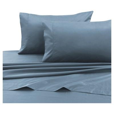 Cotton Sateen Deep Pocket Sheet Set (Queen)Sky Blue 750 Thread Count - Tribeca Living®