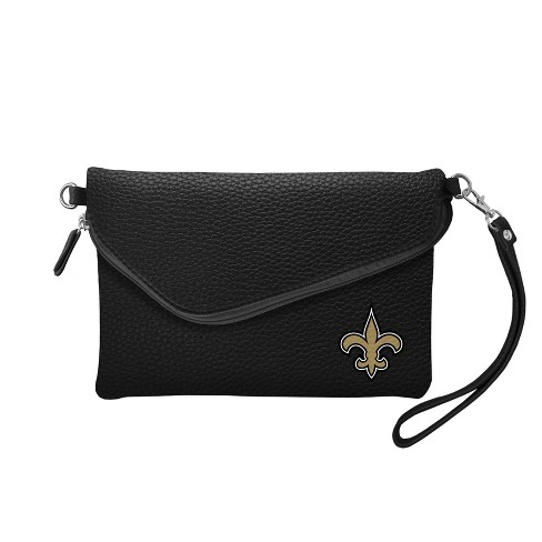 NFL New Orleans Saints Pebble Fold Over Crossbody - image 1 of 2