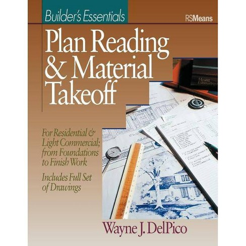 Plan Reading and Material Takeoff - (Rsmeans) by  Wayne J Del Pico (Paperback) - image 1 of 1