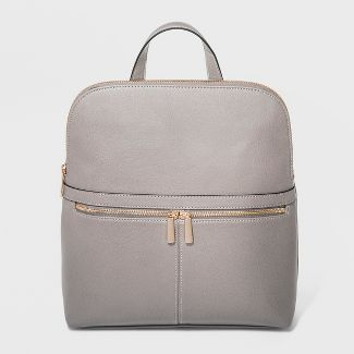 Zip Top Backpack - A New Day™ Gray