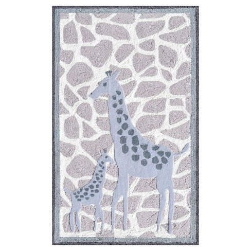 Gray Giraffes Area Rugs (3'x5') - The Rug Market - image 1 of 1