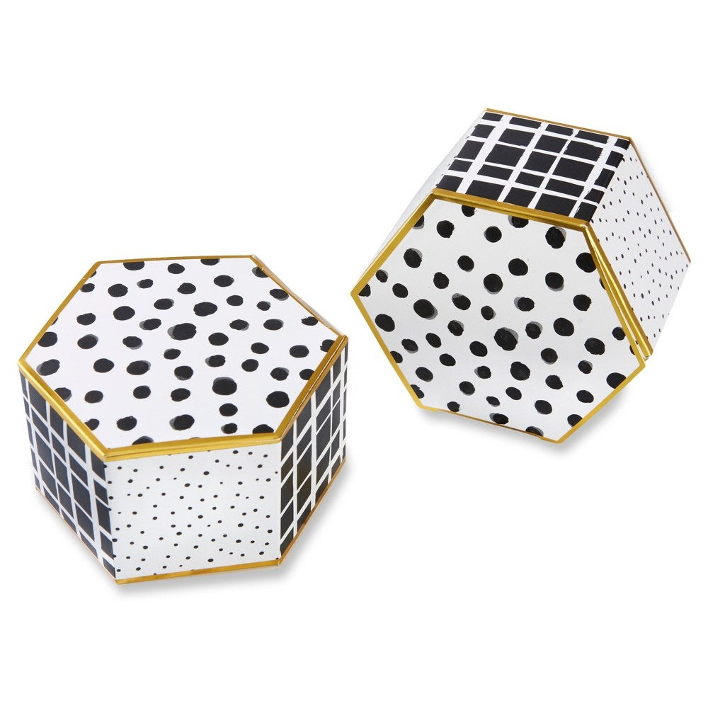 Image of 12ct Modern Classic Hexagon Favor Box