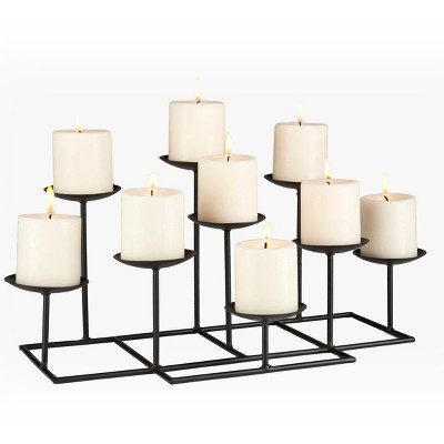 9 Candle Candelabra - Matte Black - Aiden Lane