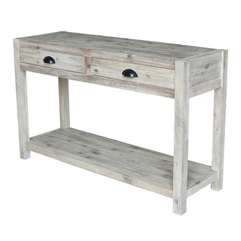 Astonishing Modern Rustic Console Sofa Table Gray Wash International Concepts Squirreltailoven Fun Painted Chair Ideas Images Squirreltailovenorg