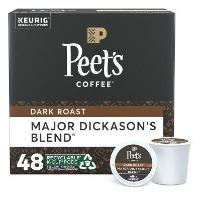 Peet's Major Dickason Dark Roast Coffee - Keurig K-Cup Pods- 48ct