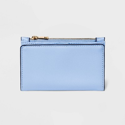 Women's Snap Closure Small BiFold Wallet - A New Day™ Blue