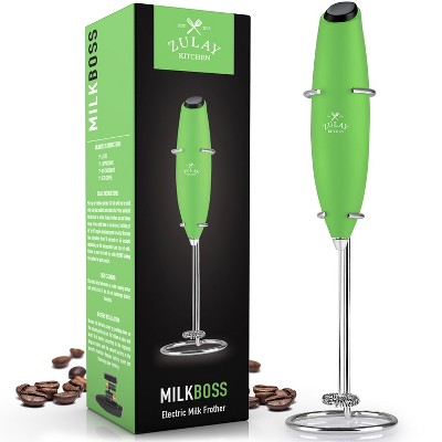 Zulay Kitchen High Powered Milk Frother Handheld Foam Maker for Lattes, Cappuccinos, Matcha, Frappe & More