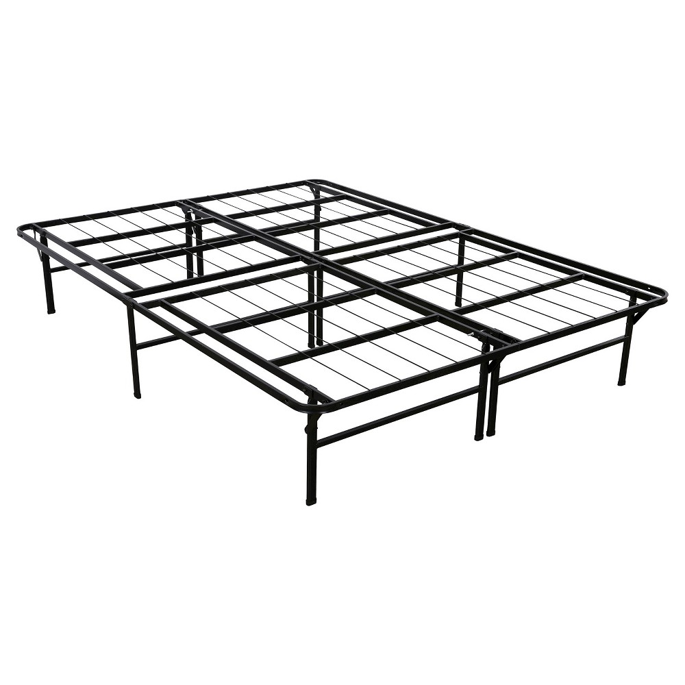 "Image of ""14"""" Queen Gene SmartBase Deluxe Mattress Foundation - Zinus, Black"""