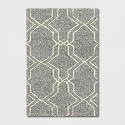 2'X3' Trellis Tufted Accent Rugs Gray - Threshold™