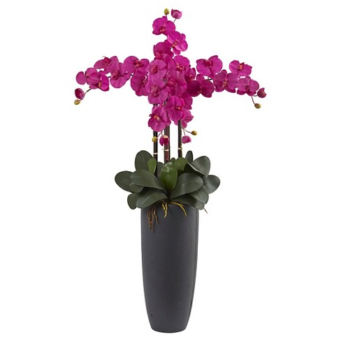 Phalaenopsis Orchid Arrangement with Bullet Planter - Nearly Natural - image 1 of 1