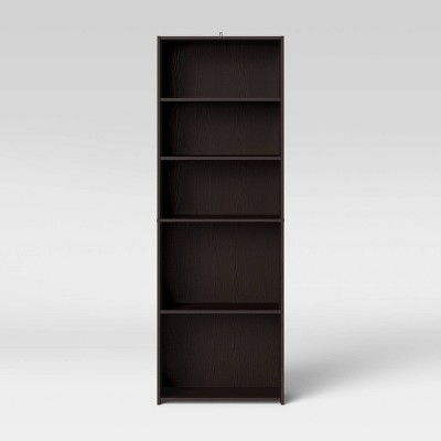 5 Shelf Bookcase Espresso Brown - Room Essentials™