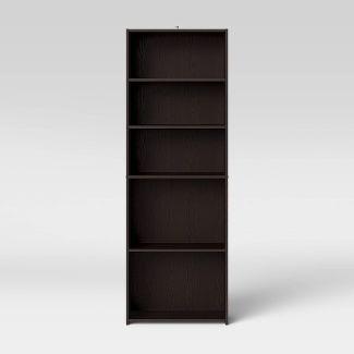 5 Shelf Bookcase Espresso Brown - Room Essentials™