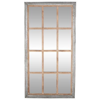 "35"" x 67"" Oversized Full Length Window Mirror with Silver Wood Frame- Olivia & May"