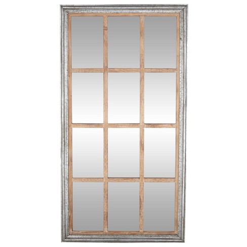 35 X 67 Oversized Full Length Window, 6 Pane Window Frame Mirror