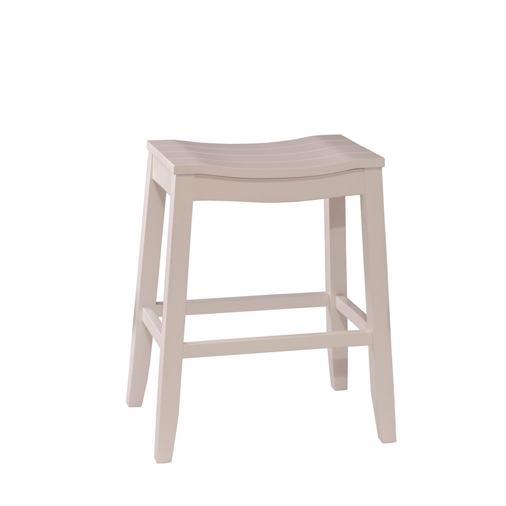 """Image of """"24"""""""" Fiddler Backless Counter Stool White - Hillsdale Furniture"""""""