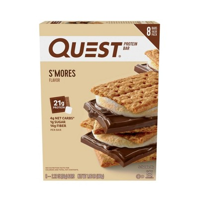 Quest S'Mores Protein Bar - 8ct/16.96oz Total