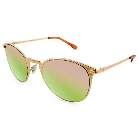 b3c9be4e6b Women s Metal Clubmaster Sunglasses With Rose Gold Lens - A New Day™ Rich  Gold   Target