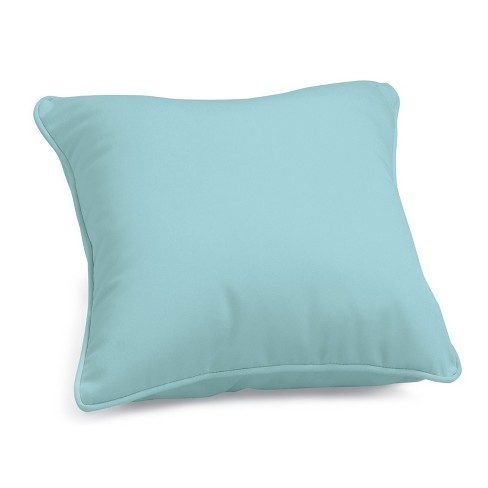 Sunbrella Outdoor Throw Pillow Mineral Blue Sunbrella Fabric