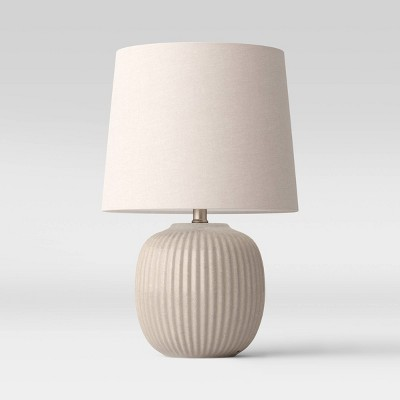 Large Ribbed Ceramic Table Lamp - Threshold™