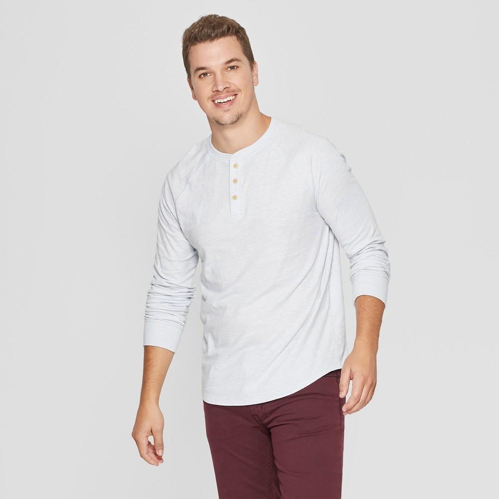 Men's Regular Fit Long Sleeve Jersey Henley Shirt - Goodfellow & Co Masonry Gray 2XL