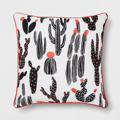 Black And White Cactus Throw Pillow - Room Essentials™