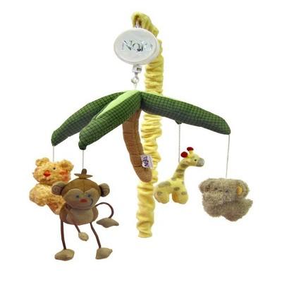 NoJo Jungle Babies Palm TreeSafari Animal Musical Mobile