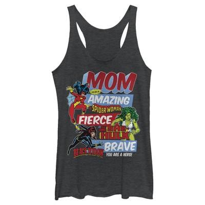 Women's Marvel Retro Heroic Mom Racerback Tank Top