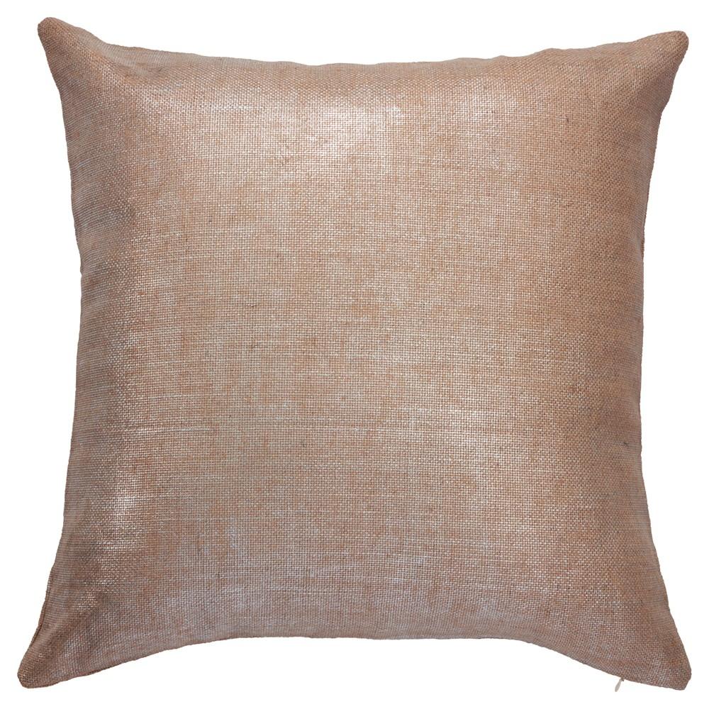Brown Preppy Plaid Silk Poly Throw Pillow (20