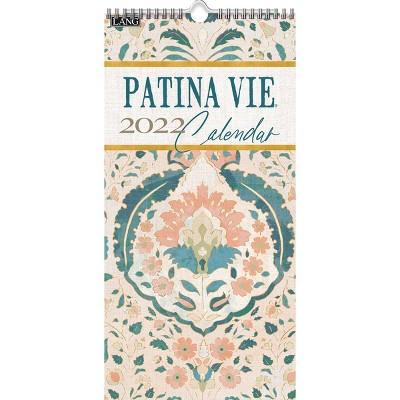 "2022 Vertical Wall Calendar 7.75""x15.5"" Patina Vie - Lang"