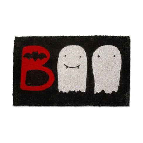 TAG Boo Coir Mat Renewable Coconut Fiber Doormat Halloween - image 1 of 2