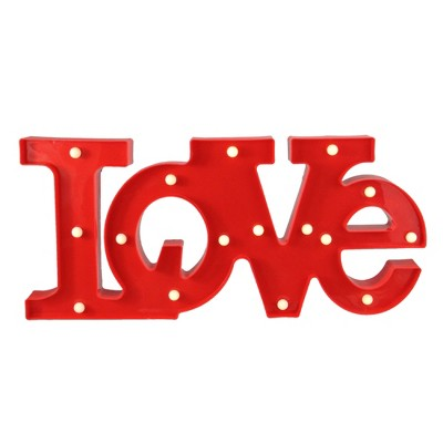 """Northlight 20"""" Battery Operated LED Lighted """"LOVE"""" Valentine's Day Marquee Sign - Red"""